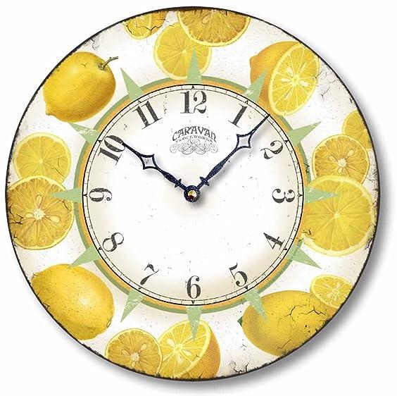 Fairy Freckles Studios Item C6601 Vintage Style Lemons Clock