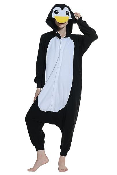 Pingüino Cosplay Animales Pijamas Mujer Invierno Novedad Navidad Traje Disfraz Adulto