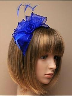 Royal Blue Headband Aliceband Hat Fascinator Wedding Ladies Day Race Royal  Ascot e11bd4f5e70