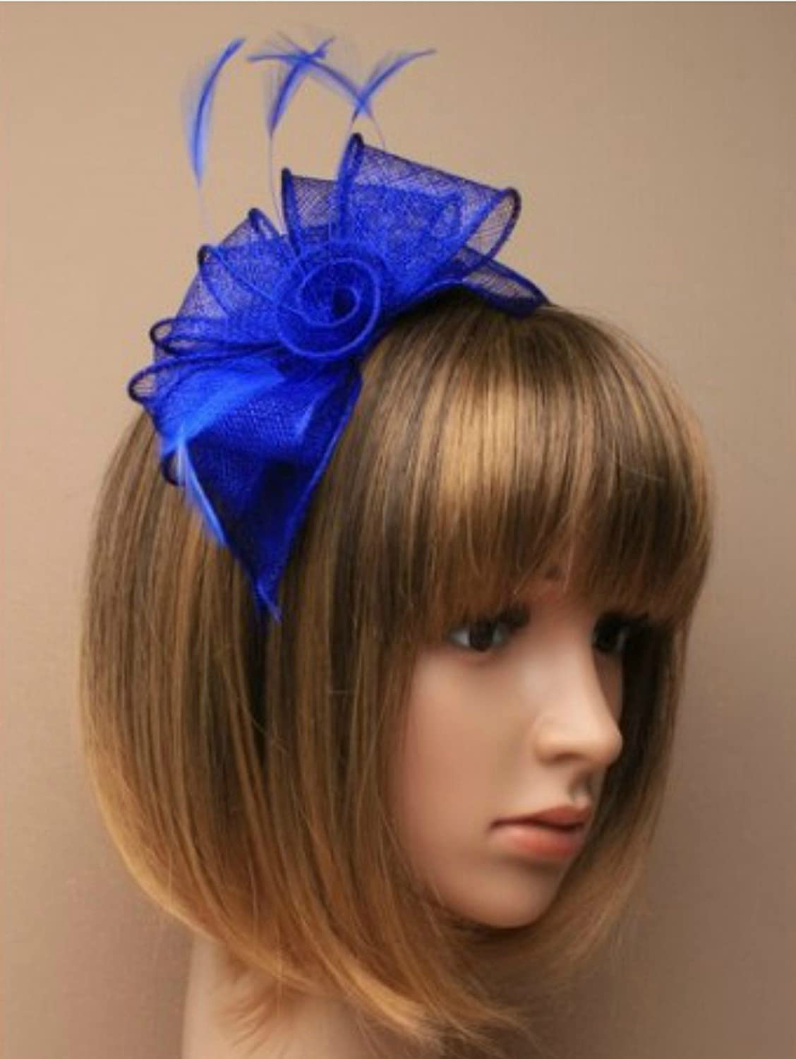 464f86b3b47 Royal Blue Headband Aliceband Hat Fascinator Wedding Ladies Day Race Royal  Ascot  Amazon.co.uk  Beauty