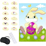 B01N4GKVGE Birthday Party Game Pin Mouth on the Bunny Game with Blindfold
