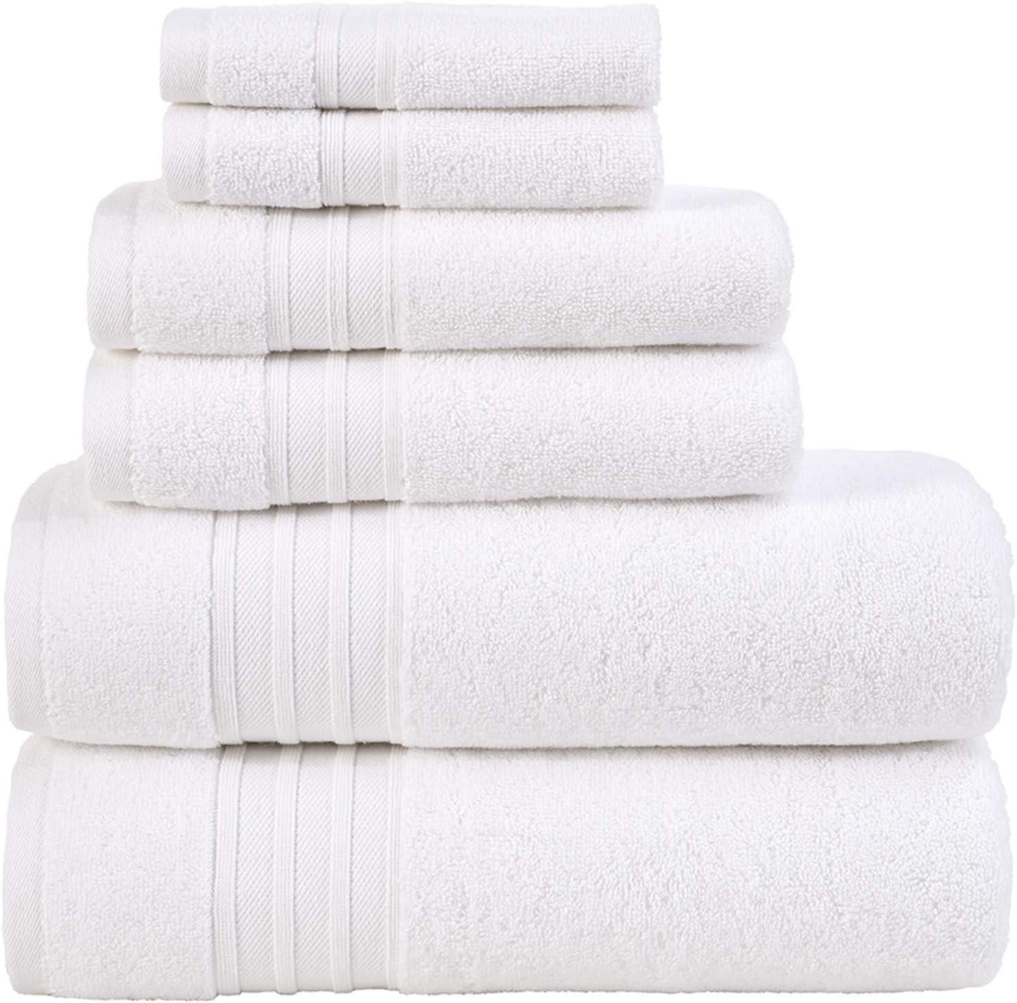 Hammam Linen White 6 Pieces Towel Set