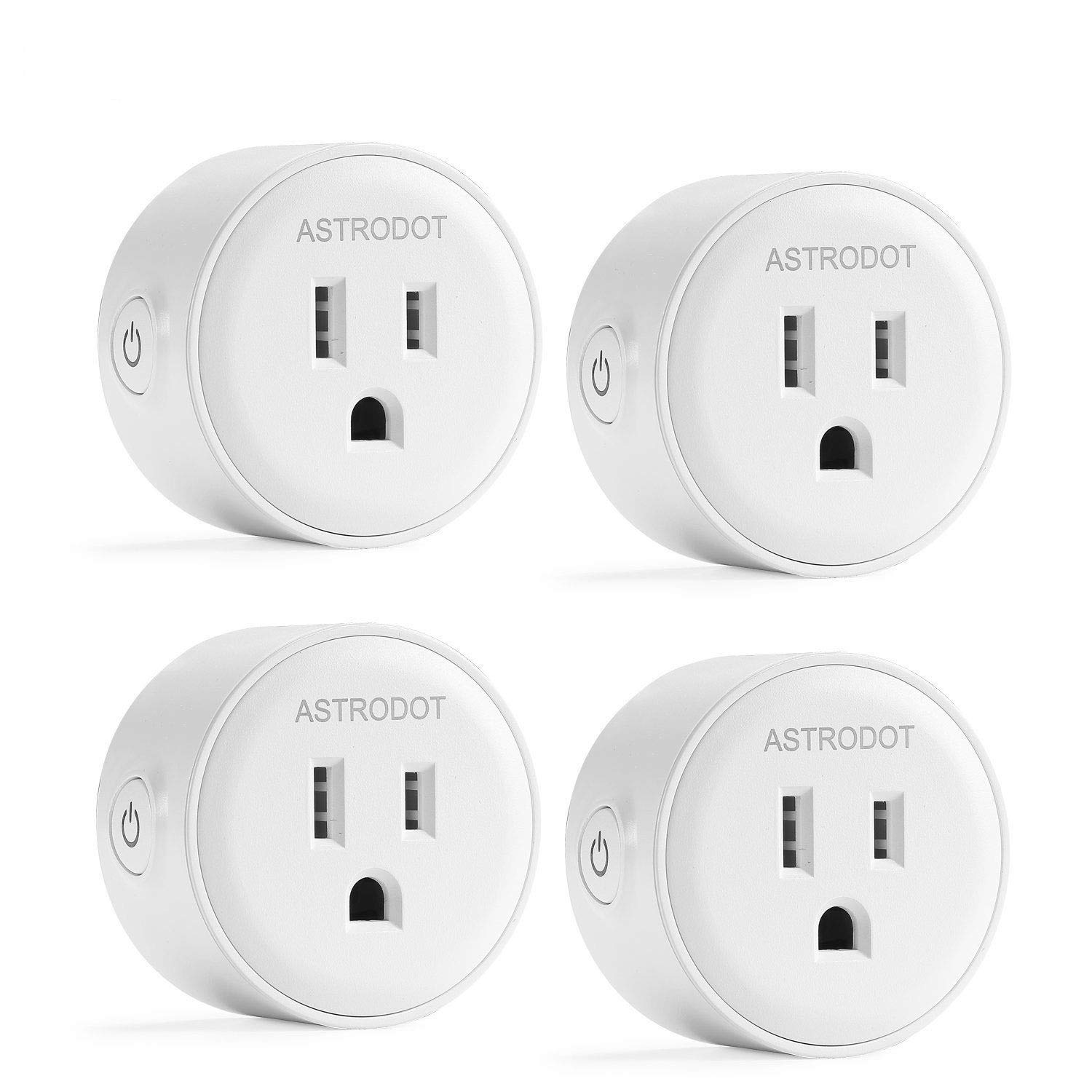 Greendot Wifi Smart Plug Mini, Smart Home Power Control Socket, Remote Control Your Household Equipment from Everywhere, No Hub Required, Compatible with Alexa and other assitants (4 Packs) (4)