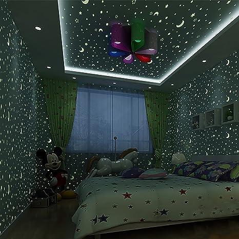 Star Fluorescent Wallpaper/Boy Child Luminous Wallpaper/Children\'s ...