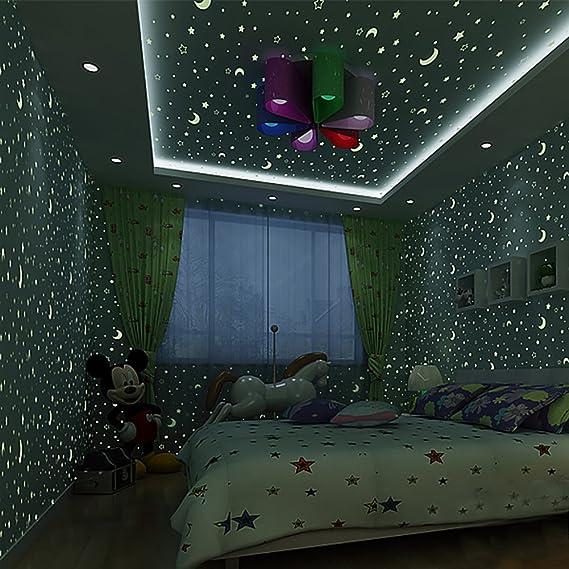 Star fluoreszierende Wallpaper/Junge Kind leuchtende Tapete/Kinder Zimmer Schlafzimmer Tapeten/Decke Lampe Pool Tapete/Vliest