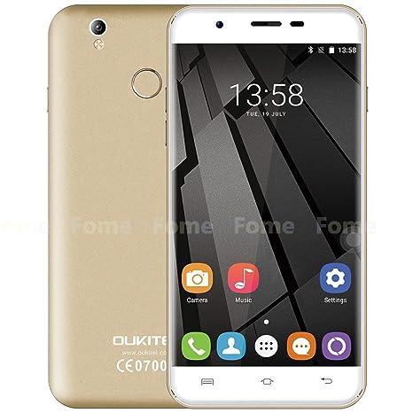 Oukitel U7 Plus - 5.5 pulgadas HD Android 6.0 4G teléfono inteligente de cuatro núcleos a 1,3 GHz 2 GB de RAM 16 GB de ROM de la huella digital GPS ...