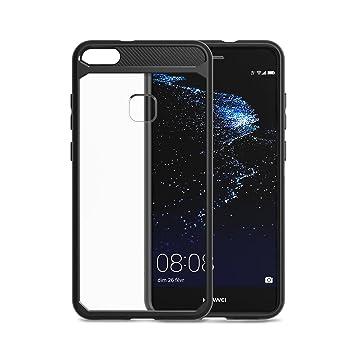 Funda Huawei P10 lite, Carcasa Huawei P10 lite SPARIN Material TPU Suave y PC Duro, Resistente a los Golpes, Anti-Rasguños, Absorción de Impacto Funda ...