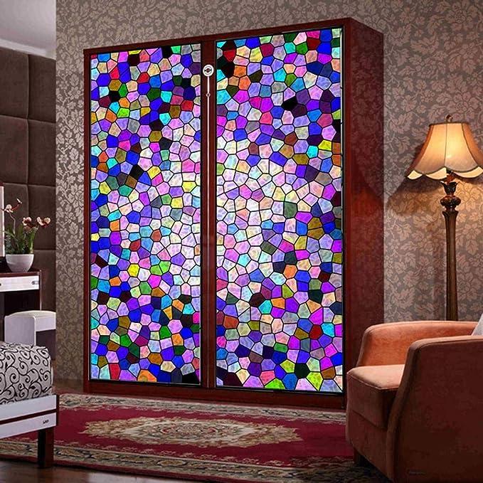 MOSU Pelicula Decorativa, Vidrieras Transmisión de luz Privacidad Pegatina Translúcida Puerta del Armario Pegatina de Vidrio -H-60x80Cm(24x31Pulgada): Amazon.es: Hogar