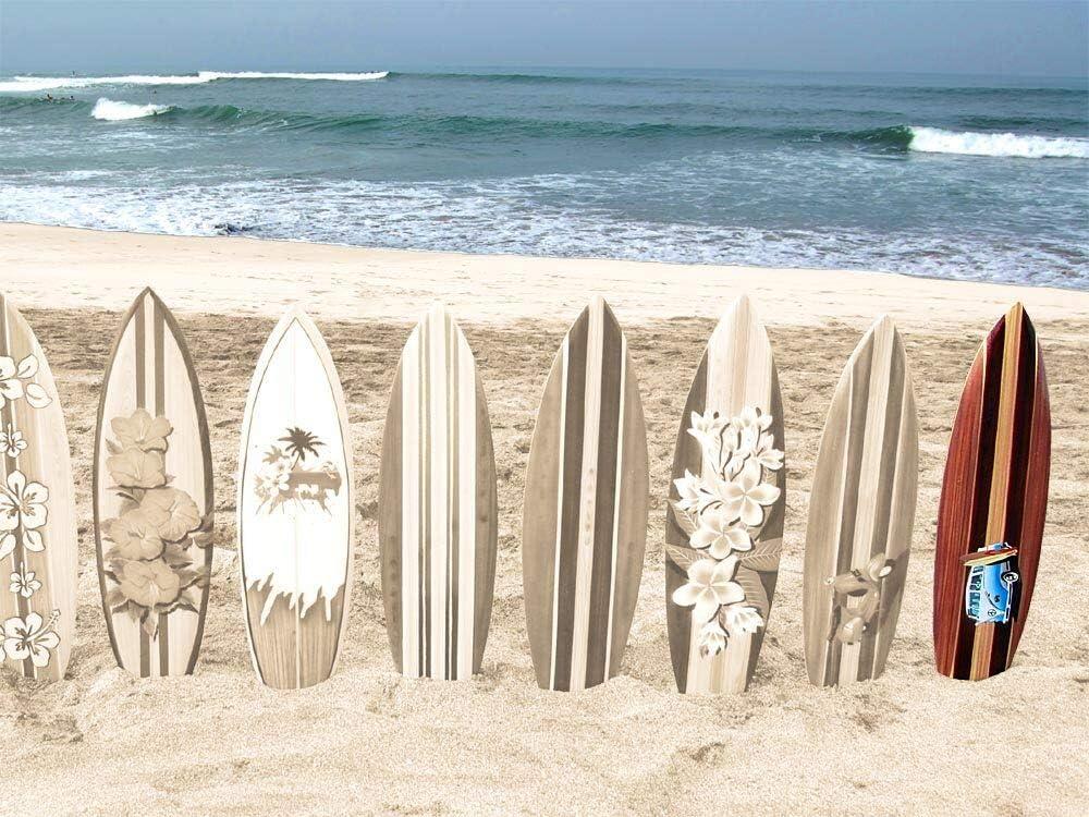 Seestern Sportswear Deko Holz Surfboard 100 cm lang Airbrush Design Surfing Surfen Wellenreiten Surf //1753