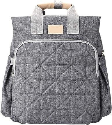 Moda bolsa de pañales de gran capacidad para cochecito de