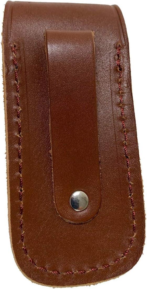 TUFF LUV /Étui en cuir v/éritable avec passant de ceinture pour Leatherman Wave+ Armature//Sidekick//Wingman//Charge+ Rev//Free P2 /& P4 Marron