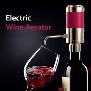 Aireador de vino/dispensador, Eléctrico purificador de cartucho de filtro decantador de vino, licores, vino para entusiasta, amante de regalo, las mujeres: ...