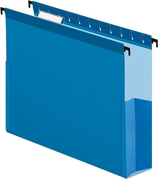59303 SureHook Reinforced Hanging Box Files 3 Expansion Legal Blue of 25