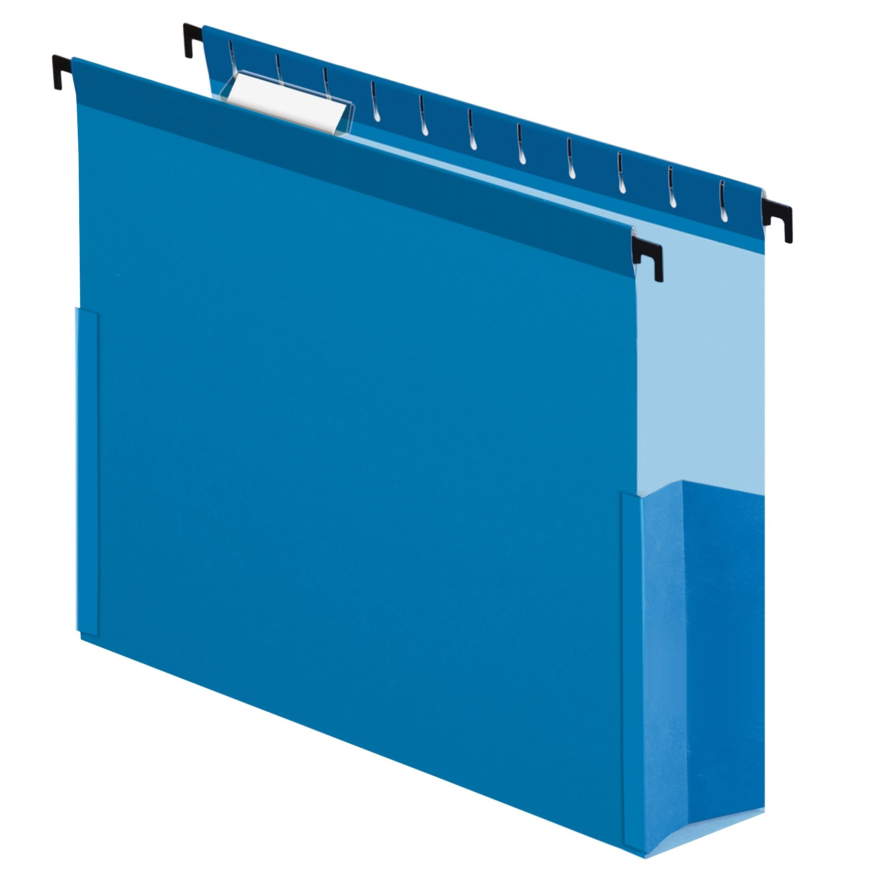 Pendaflex SureHook Reinforced Hanging Box File, 3'', Letter, Blue, 1/5 Cut, 25/BX (59203)