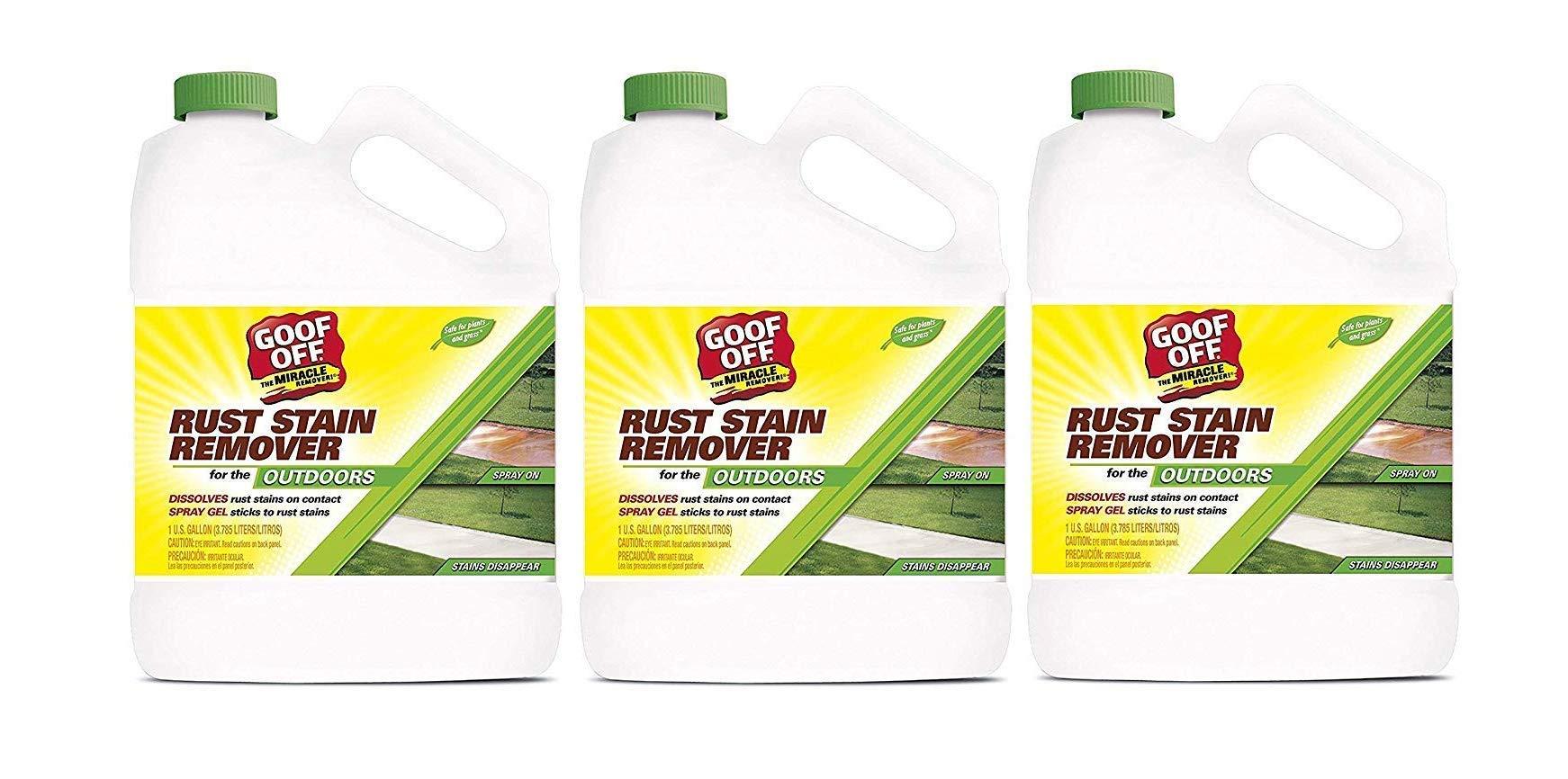 RustAid GSX00101 Goof, 1 Gallon GAL Rust Stain Remover, (Тhree Pаck)