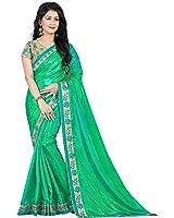 Siddeshwary Fab Silk Saree (S05-Green Silk Saree_Green)