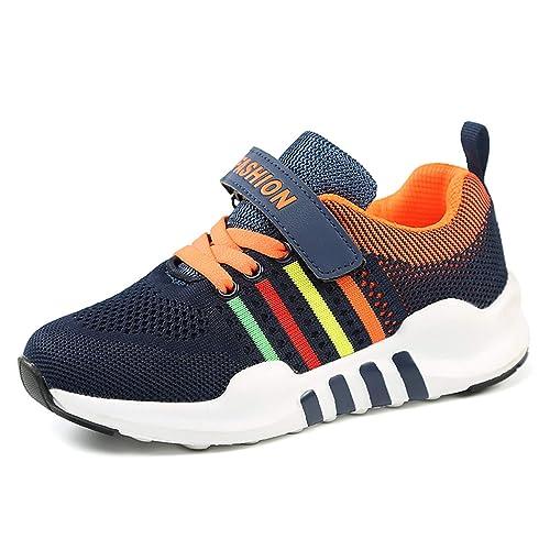 tqgold Bambini Ragazzo Scarpe da Ginnastica Corsa Sportive Running Sneakers  Basse Interior Casual all Aperto 08f300bbb27
