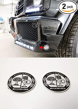 ORIGINAL BRABUS SIDE LOGO BADGE EMBLEM SET MERCEDES G CLASS W463 G500 G55 G63 G