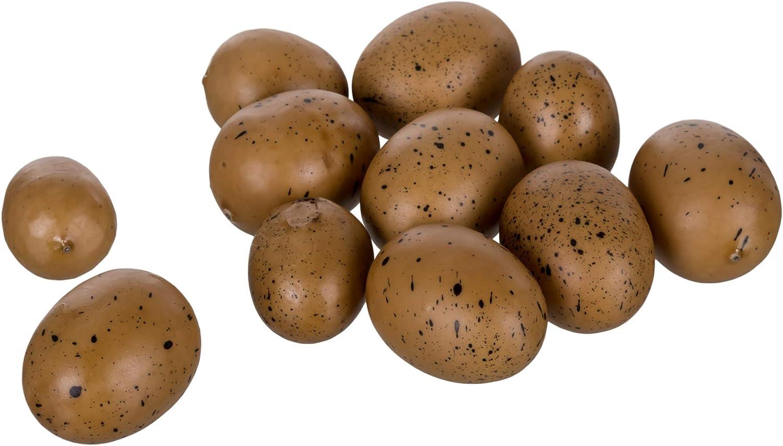 Two Dozen Farmhouse Eggs Light Brown Speckled Foam Vase Filler Gift Bag Set