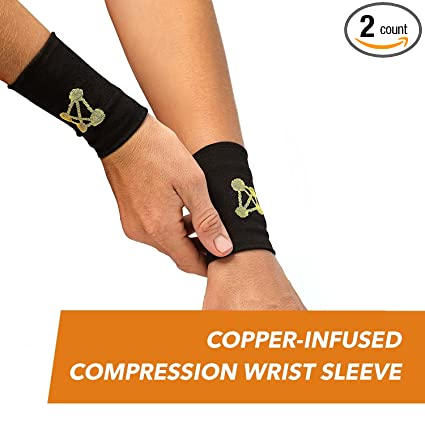218eedbad0 CopperJoint – Copper-Infused Compression Wrist Sleeve, Ergonomic Design  Supports Improved Circulation to Help