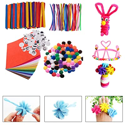 590PCS Pieces Pipe Cleaners,27 Colors Chenille Stems,Art Creative Crafts Decorations,Arts and Crafts Supplies for Kids (590PC, Random): Arts, Crafts & Sewing