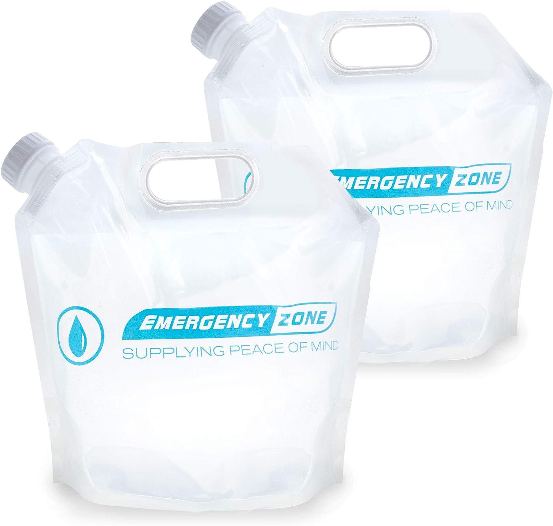 4 Liter / 1 Gallon Ultralight Water Pouch 2 Pack