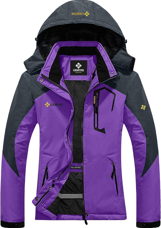 weatherproof snow suit Women/'s ski jacket SM winter wear Winter sport jacket Purple checkered winter parka jacket snowboard jacket