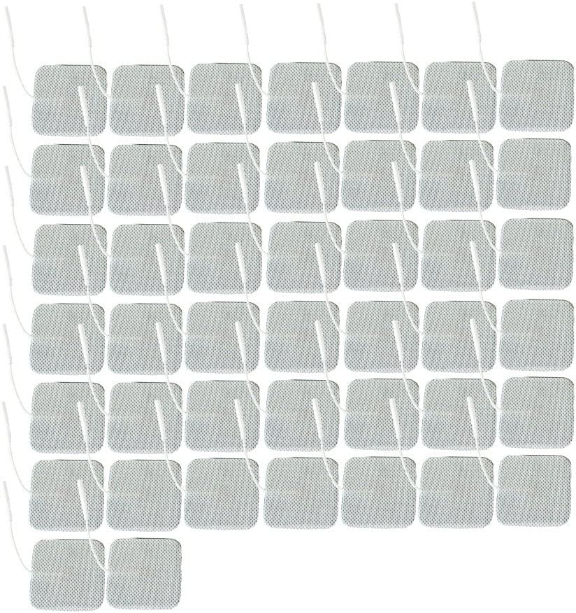 AcuZone 44 Square Shaped Electrodes for TENS Massage EMS Units, 2 x 2-Inch