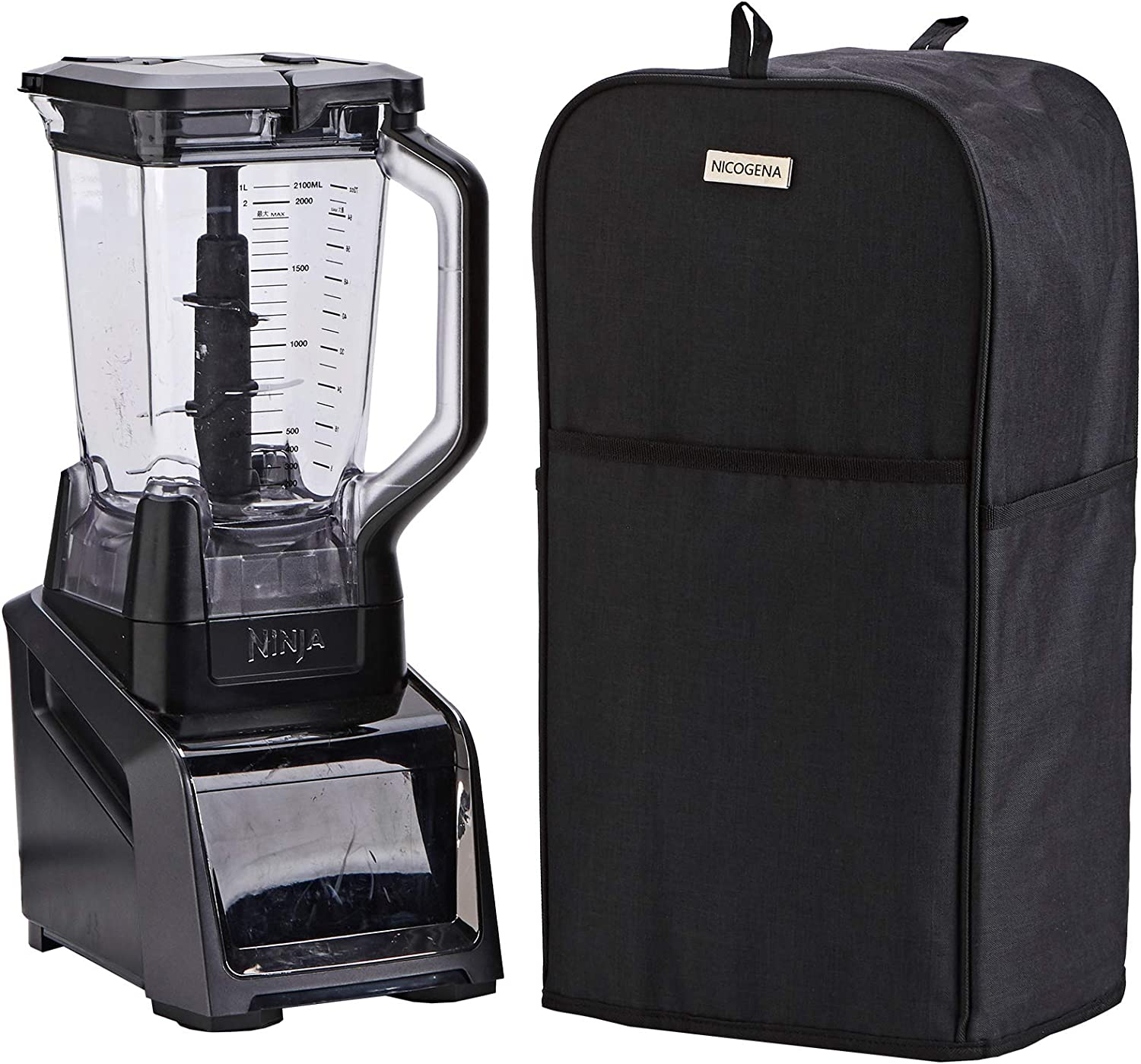 NICOGENA Blender Dust Cover with Accessory Pocket Compatible with Ninja Foodi, Black