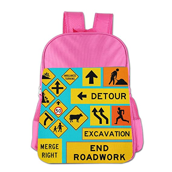 ColorSee Traffic Warning Signs Daypack Kids School Bag Boys
