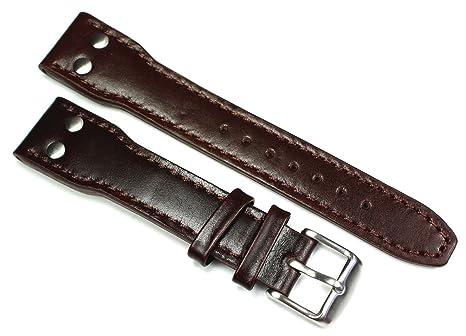 20 mm Bracelet en cuir aviateur Montres bande Pilot Aviator style Extra  Forte Genuine Bracelet Cuir bae0caa7bec