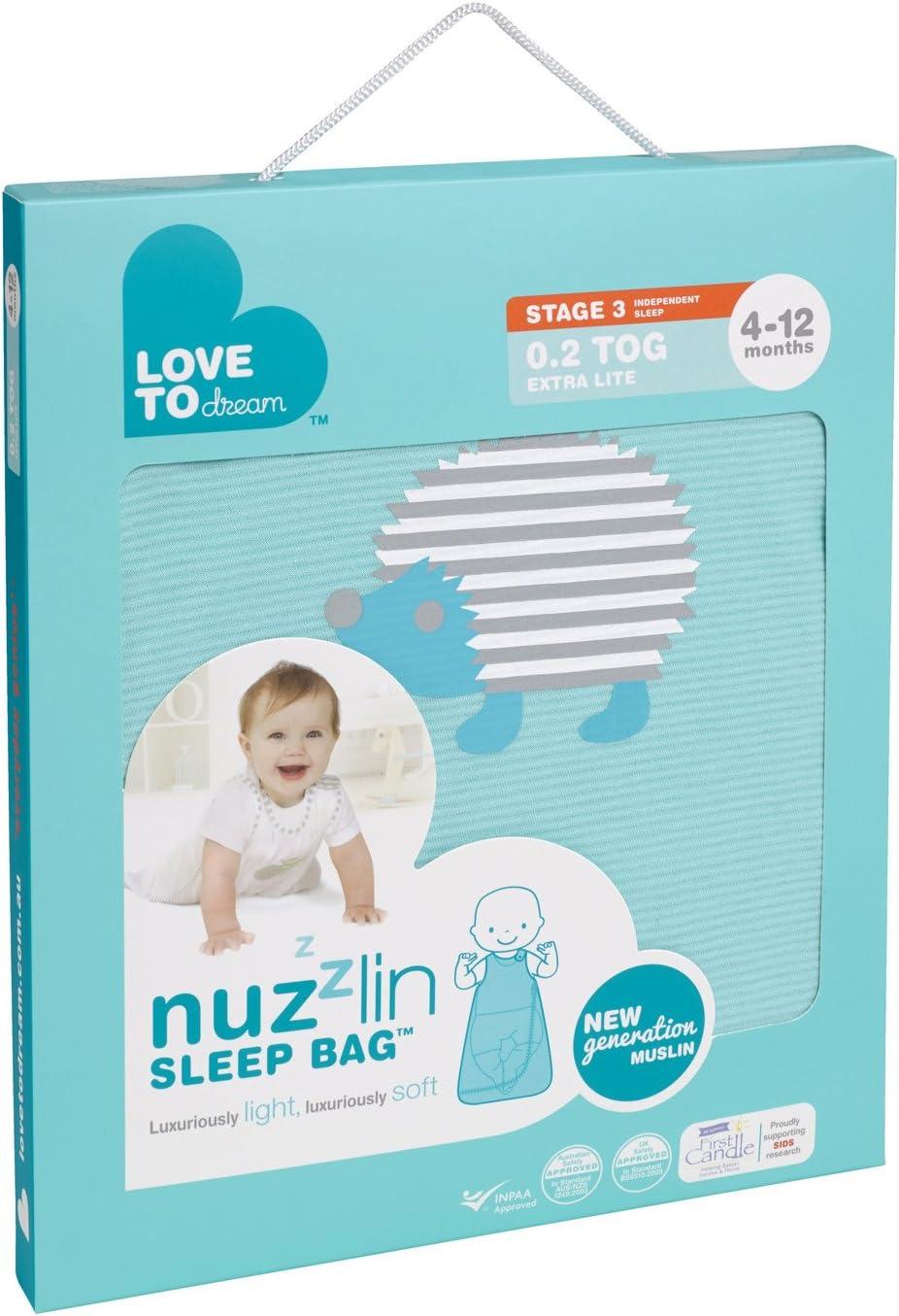 Love To Dream Nuzzlin Sleep Bag 0.2 Tog Aqua, 4-12 Months