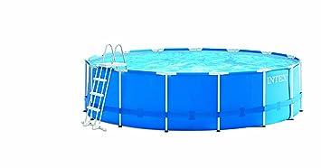Intex Metal Pool Set de Piscina, Azul, 457 cm de diámetro x 122 cm