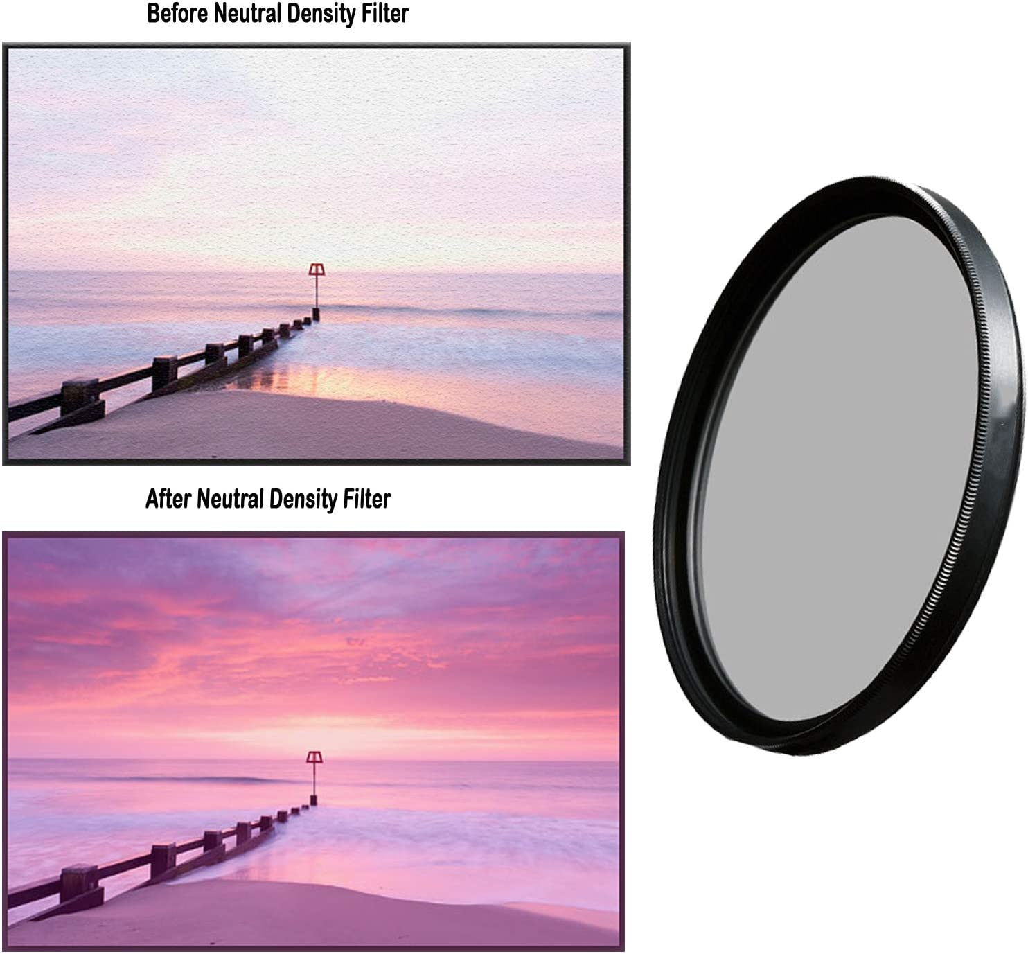 ND8 ND Neutral Density Motion Blur Shutter Speed Filter for Canon EF 100mm f//2.8L Macro IS USM Lens