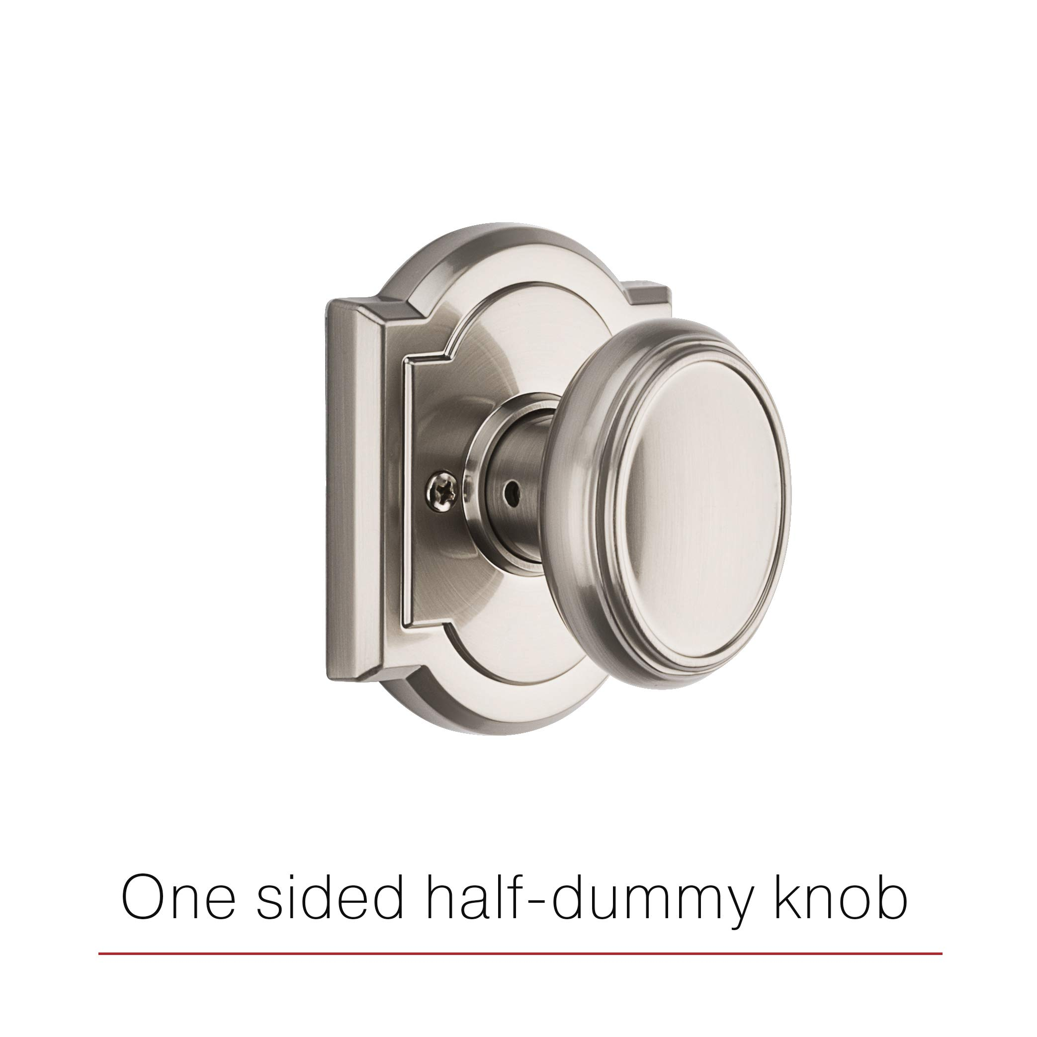 Baldwin Prestige Carnaby Half-Dummy Knob in Satin Nickel by Baldwin (Image #4)