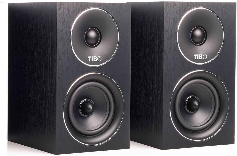150W Schwarz TIBO Harmony 4 Passive HiFi-Regallautsprecher