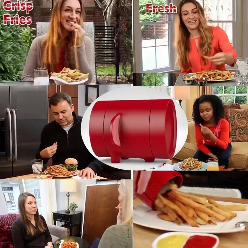 Potatoes Maker French Fries Maker Potato slicers French Fries Cutter Machine & Microwave Container 2-in-1,No Deep-Fry To Make Healthy Fries. by MEIBY (Image #3)