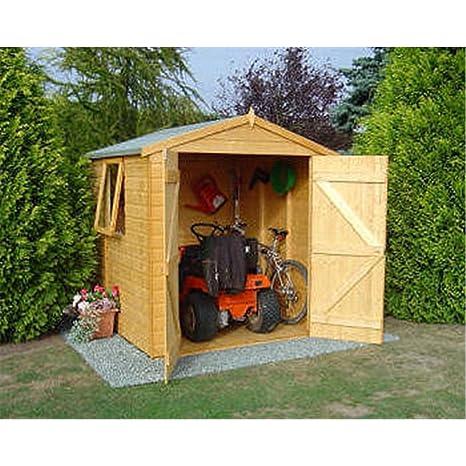 6 ft x 6 ft lengua y Groove Apex de madera caseta de jardín/taller