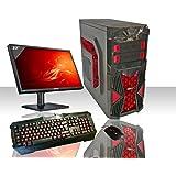 PC DESKTOP GAMING RED INTEL QUAD CORE WIFI /HD 1TB SATA III/RAM 8GB 1600MHZ/HDMI-DVI-VGA/USB 2.0 3.0 SD CARD/MONITOR 22 LED HD SAMSUNG VGA ATTACCO VESA/TASTIERA E MOUSE GAMING PC FISSO COMPLETO PRONTO ALL'USO GIOCHI,UFFICIO,GAMING ITEK INVADER