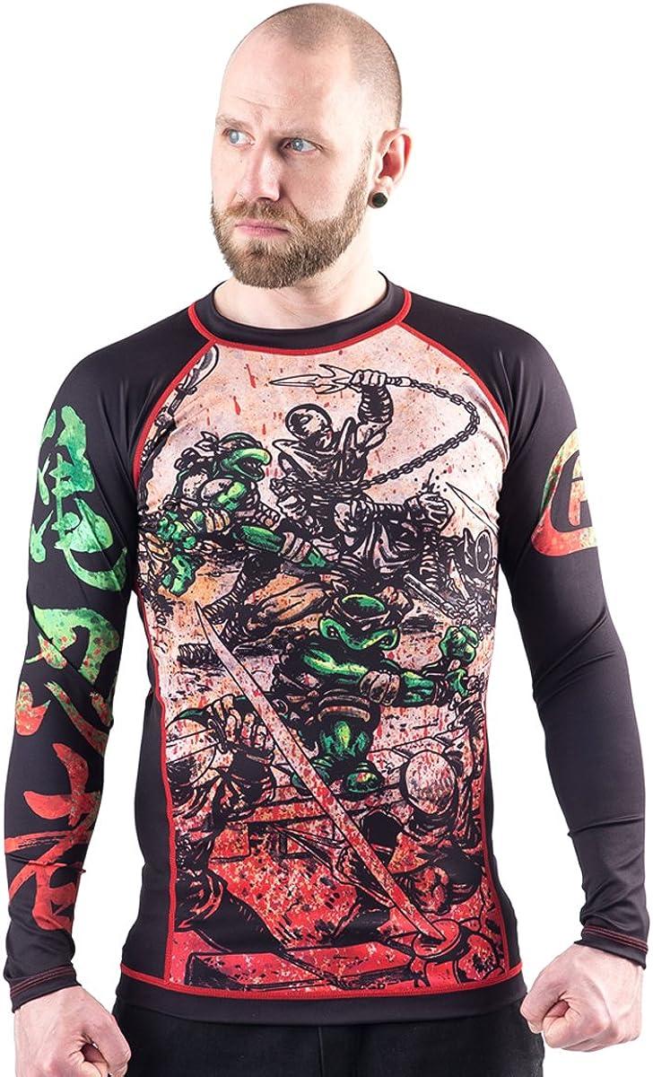 Fusion Fight Gear TMNT Book One BJJ Rash Guard Compression Shirt