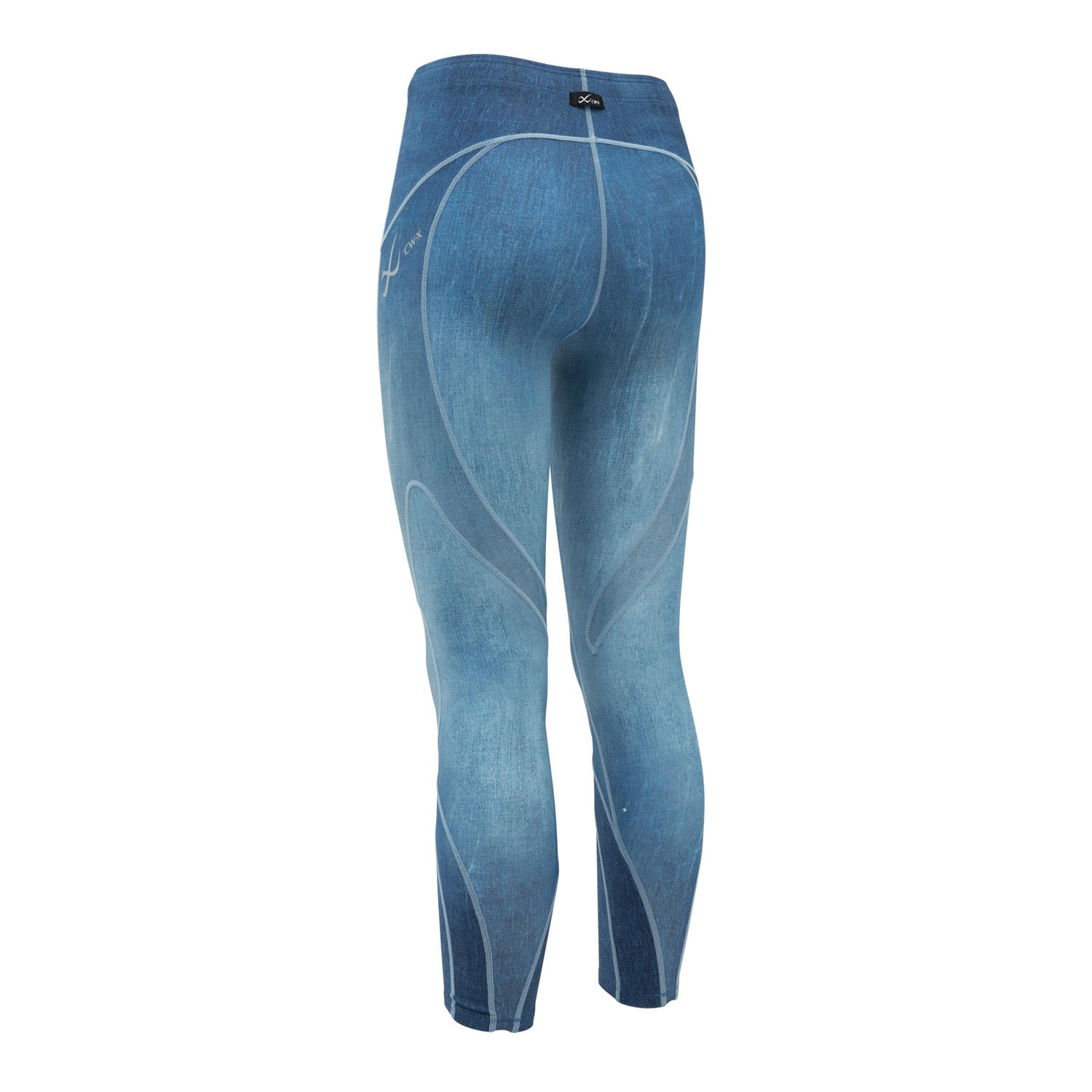 CW-X Women's Stabilyx Joint Support Compression Tight, Denim Blue, X-Small by CW-X (Image #2)