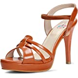 Meriggiare Women Synthetic Tan Heels
