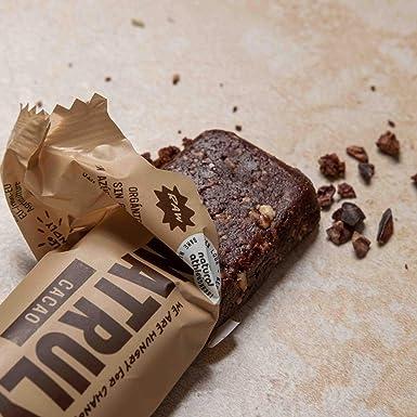 NATRULY Barritas Energéticas BIO Cacao Sin Azúcar Añadido, 100% Natural y Orgánicas, Sin Gluten, Vegana -Pack 14x40g