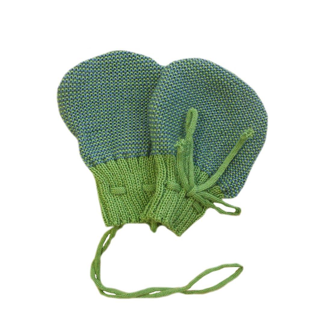 disana Baby Strick-Handschuhe Bio-Merinoschurwolle Anthrazit-Grau Gr