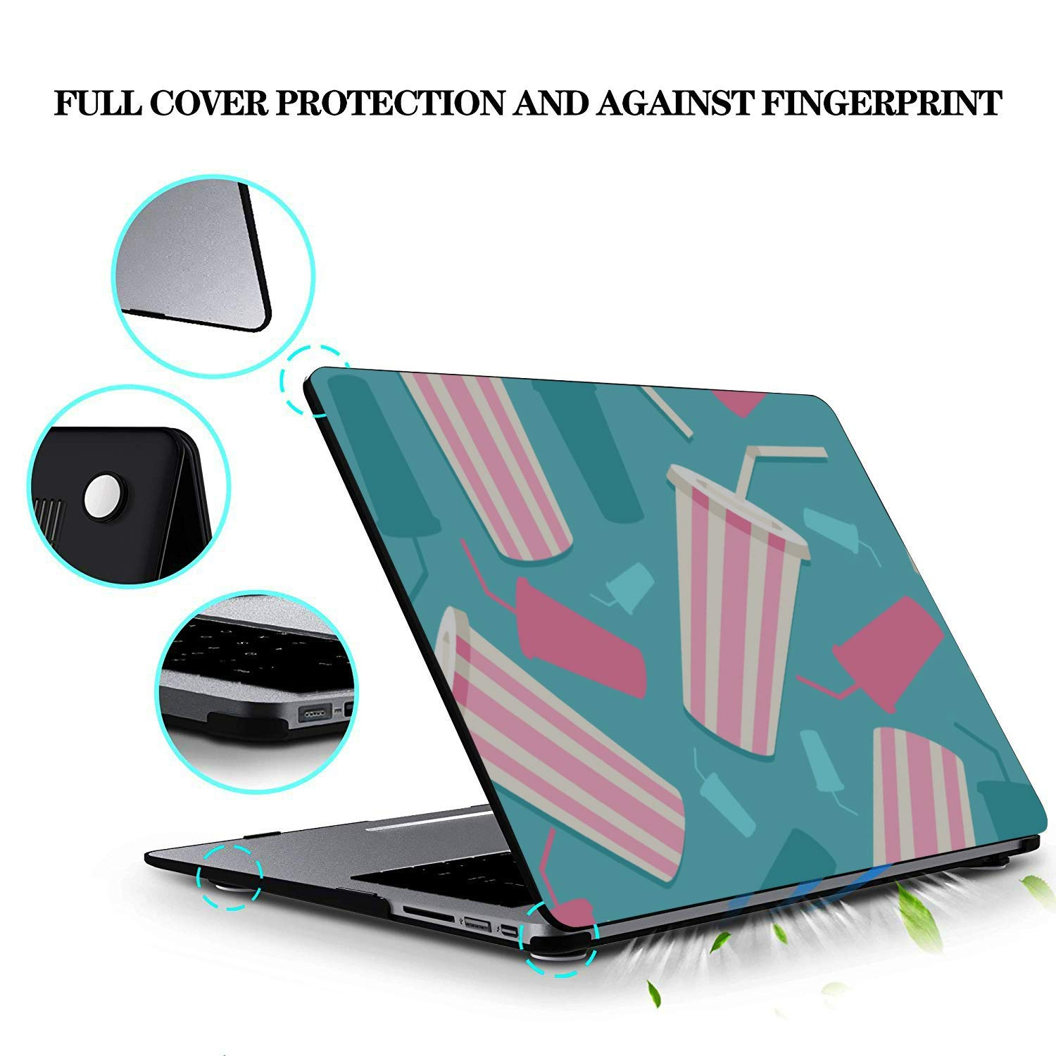 MacBook Air Case Summer Sour Sweet Drink Juice Box Plastic Hard Shell Compatible Mac Air 11 Pro 13 15 MacBook Pro Accessories Protection for MacBook 2016-2019 Version