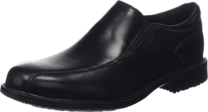 TALLA 44.5 EU. Rockport Essential Details II Bike Black Leather, Mocasines para Hombre