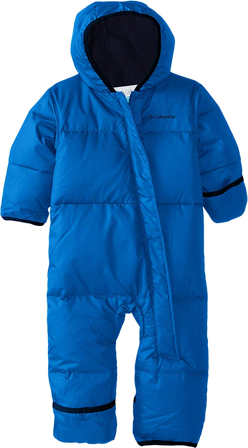 Collegiate Navy Super Blue Columbia Sportswear Snuggly Bunny Bunting Insulated Jacket Size 12//18