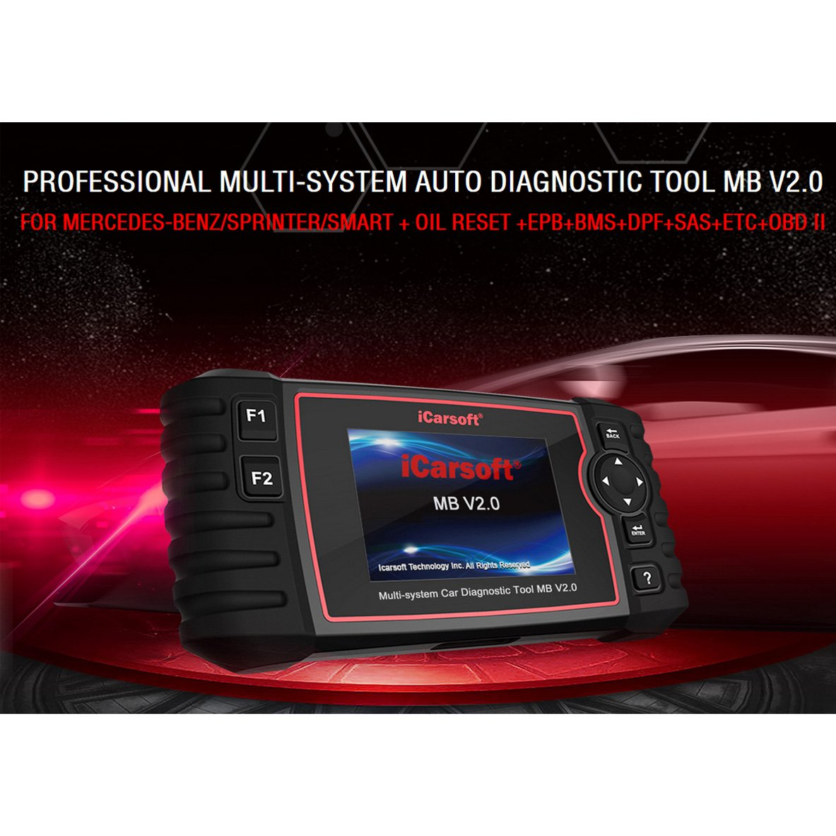 iCarsoft Professional Multi-System Auto Diagnostic Tool MB V2 0 for  Mercedes-Benz/Sprinter/Smart, The Update Version i980