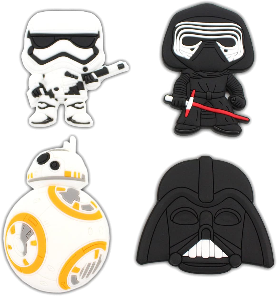 Finex - Set of 4 LARGE 3 inches - Star Wars Refrigerator Magnets Fridge Magnet Set for Locker