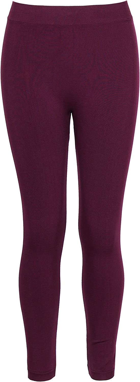 Crush Girls Seamless Solid Color Leggings Pants Size 7-14 Wine Red